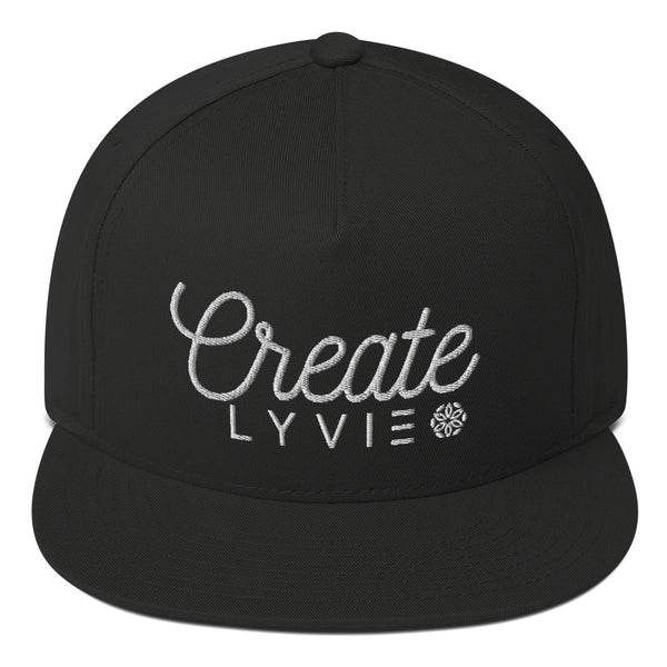 Create Snapback - Black / White - L Y V E L Y - streetwear - activewear - lifestyle - inspirational - urban apparel - supply - casual