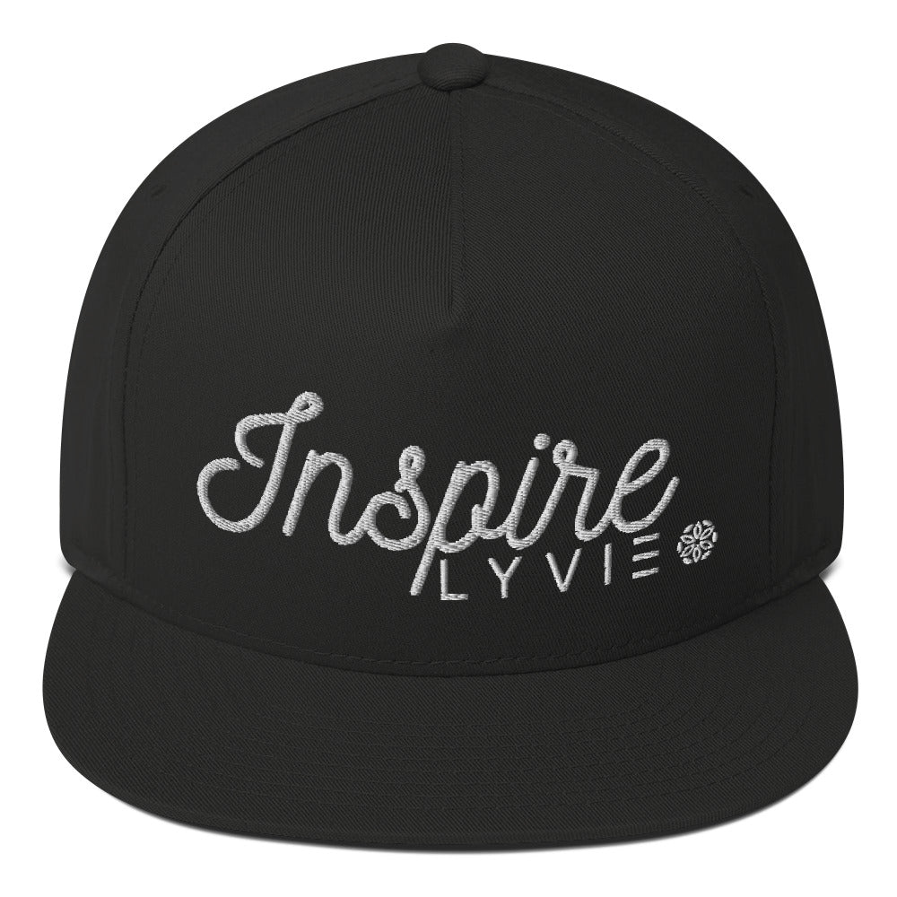 Inspire Snapback - Black / White - L Y V E L Y - streetwear - activewear - lifestyle - inspirational - urban apparel - supply - casual