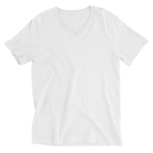 Load image into Gallery viewer, LYVELY Minimal Triangle V-Neck T-Shirt - White - L Y V E L Y - streetwear - activewear - lifestyle - inspirational - urban apparel - supply - casual