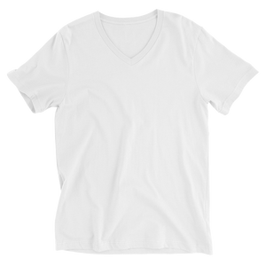Minimal Triangle V-Neck T-Shirt - White - L Y V E L Y - streetwear - activewear - lifestyle - inspirational - urban apparel - supply - casual