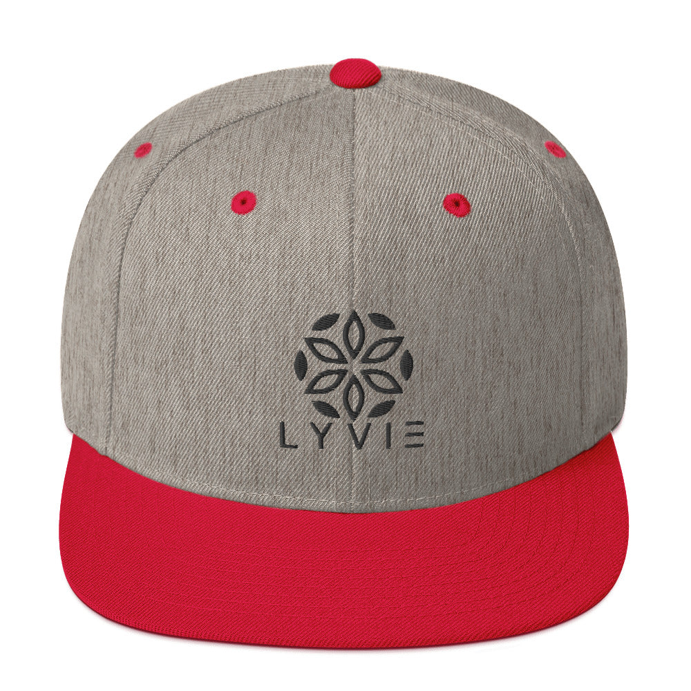 Logo Snapback Hat - Grey / Red - L Y V E L Y - streetwear - activewear - lifestyle - inspirational - urban apparel - supply - casual
