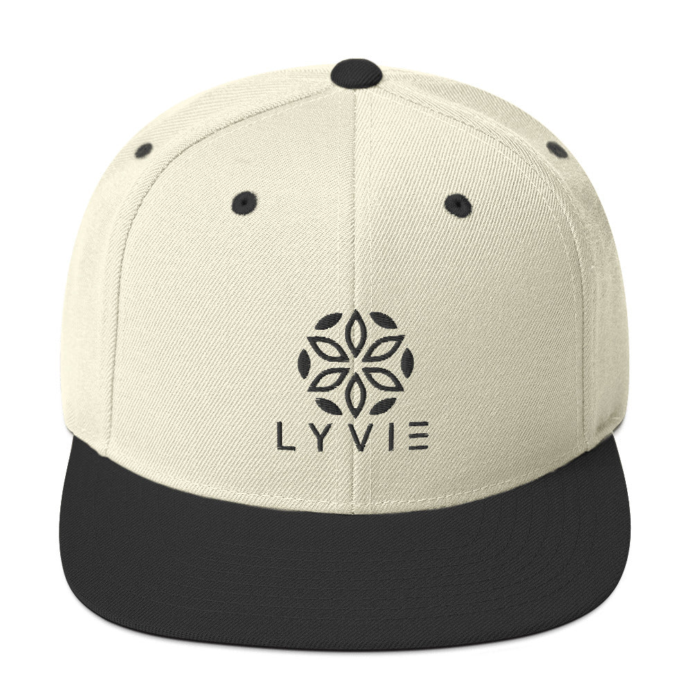 Logo Snapback Hat - Beige / Black - L Y V E L Y - streetwear - activewear - lifestyle - inspirational - urban apparel - supply - casual