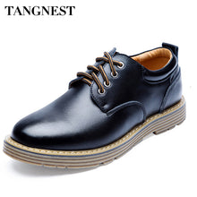 Tangnest Summer New Fashion Men Business Shoes Casual  Lace Up Male Flats Shoes Men's Platforms Shoe 3 Colours Size 38-44 XMP559