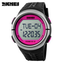 SKMEI Pedometer Heart Rate Monitor Calories Counter Fitness Tracker Outdoor Sports Watches Digital Watch Women Wristwatches