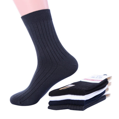 98% Cotton autumn winter brand business men socks male high quality supermarket cotton socks 4pairs/lot