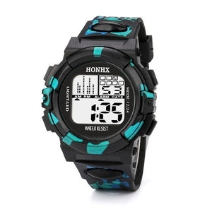 HONHX Outdoor Multifunction Digital Watch For Boys Girls Silicone Rubber Child Sports Electronic Wristwatches montre enfant #63