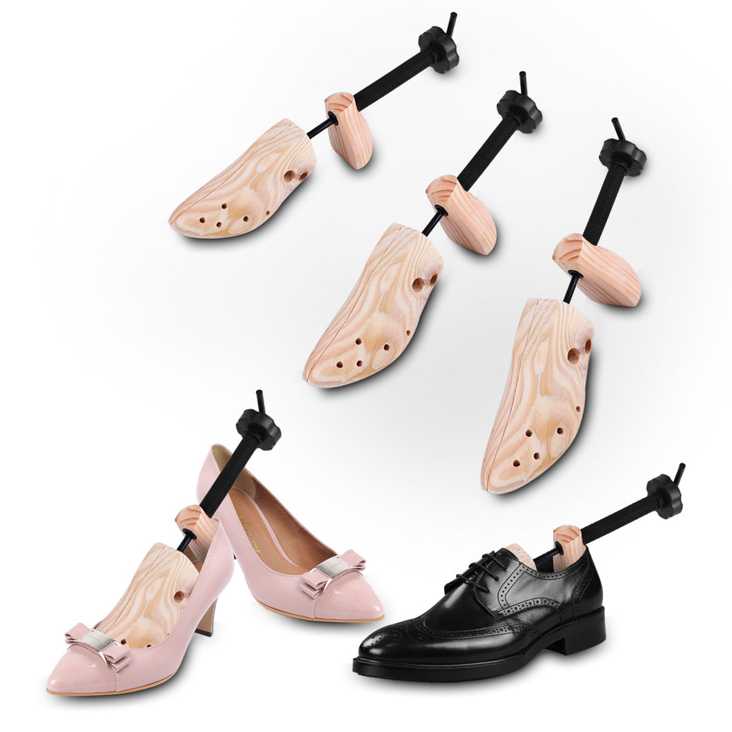 Unisex 2-Way Wood Adjustable Shoe Tree Stretcher