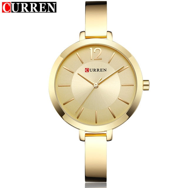 Fashion Quartz Watch Women Luxury brand Steel Bracelet Ladies Quartz-Watch Curren Dress Wristwatch Clock Female relojes Mujer