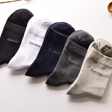 10 pairs/lot Men Socks Brand Classical Long Dress Bamboo Cotton Socks Dress Business Casual Breathable Men's Socks