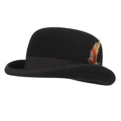 Steampunk Men Fedora Top Hat With Feather Wool Hat England Style Jazz Caps