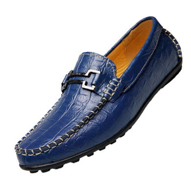 Hot Sale Big Size new men's Genuine Leather Men Moccasin Flats Slip On crocodile leather casual shoes driving loafer