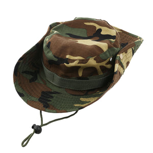 Outdoor Sports Wide Brim Boonie Hat Cap Fishing Hat - Free Size