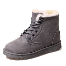 8 Colors Ankle Boots For Women Flat Casual Women Snow Boots Plush Lace-up Warm Cotton Shoes Fur Female Winter Boots DST903