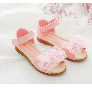 2018 Summer Fashion girls kids Princess Sandals girls flat sandals kids dress wedding shoes leather teen sandals beach