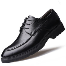 Spring Summer Men's Genuine Leather Shoes New 2018 Breathable Solid Black Dress Shoes Men Formal Office Shoes Leather Flats