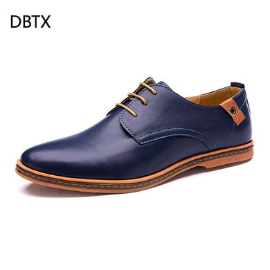 DBTX Men's Shoe Leather Oxford Simple Style Formal Shoes Dress Business Lace-up casual shoes Comfortable  Footwear Dropship