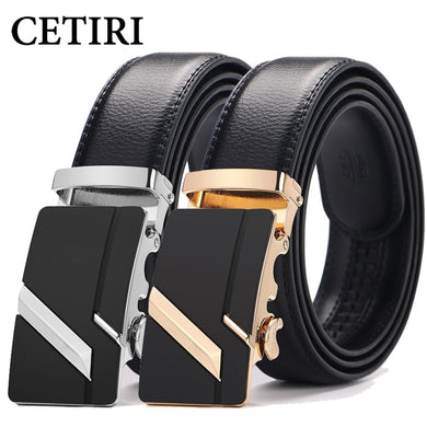 CETIRI Male Belt 110cm 120cm 130cm 140cm 150cm Plus Size Long 2018 New Designer Leather Strap Automatic Buckle Belts For Men