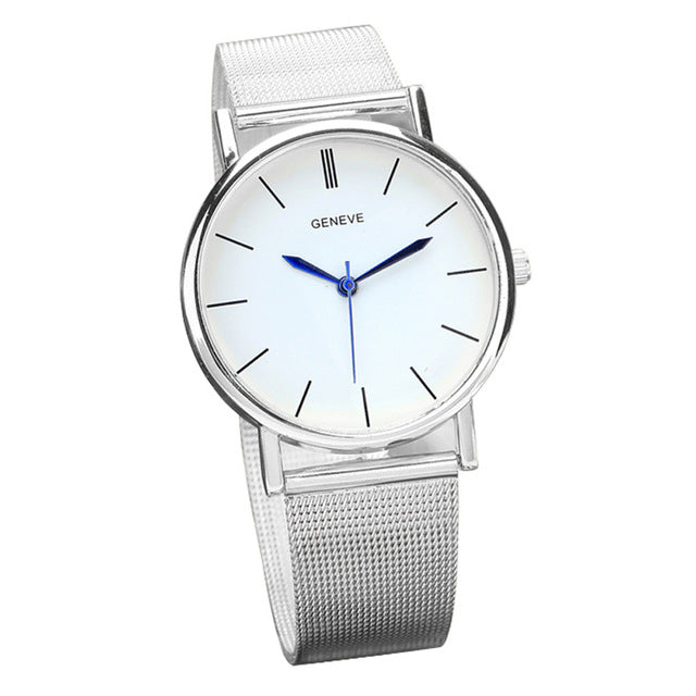 Luxury European Style Ladies Watches Stainless Steel Elegant Big Dial Women Watch Casual Dress Female wristwatch clock &Ff