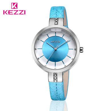 KEZZI Brand Big Dial Women Watches Ladies Crystal Leather Dress Wrist watch Female