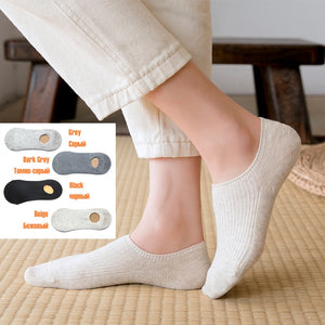 Solid Color Socks Women Boat Cotton Socks Slippers 1 Pair
