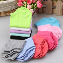 Urgot 10pcs=5pairs/lot Women Cotton Socks Summer Autumn Cute Candy Color Boat Ankle Socks Women's Thin Sock Slippers Girls Meias