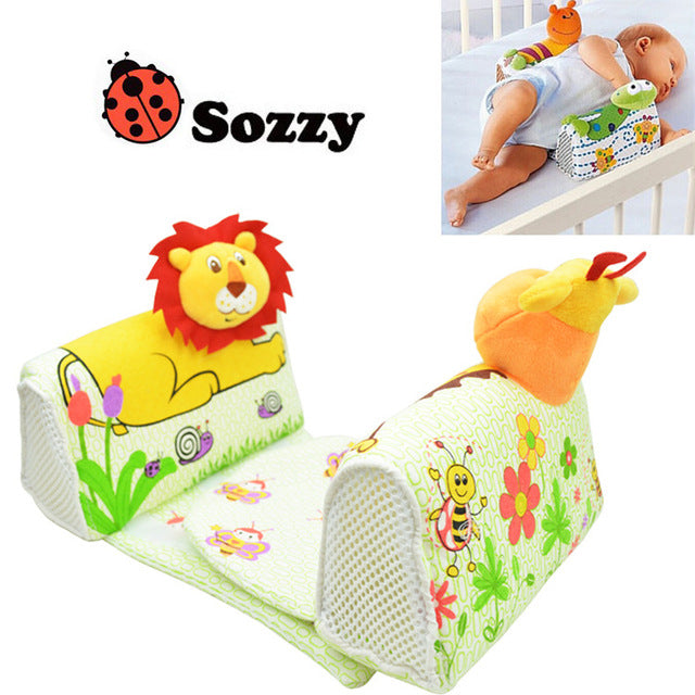 Baby Sleeping Side Pillow. Adorable animal patterns with frogs, lions, and giraffes. Anti - Apnea to protect sleeping babies