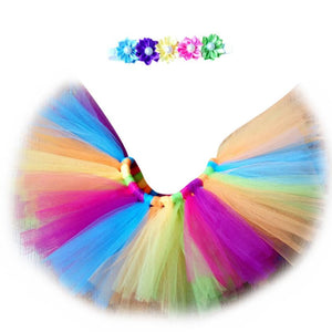 Rainbow tutu skirt/headband