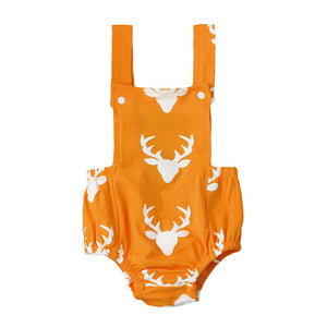 Unisex Deer Print Adorable Romper! Choose between two colors or buy both!!