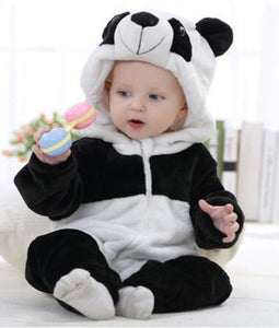 2017 Infant Romper Baby Boys Girls Jumpsuit New born Bebe Clothing Hooded Toddler Baby Clothes Cute Panda Romper Baby Costumes