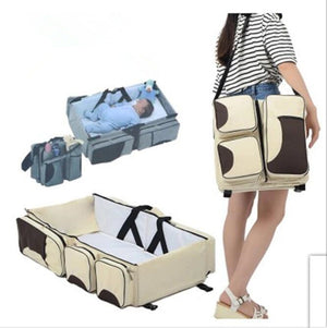New multi function Mommy bag type baby portable bed folding sleeping basket outdoors baby sleeping baby