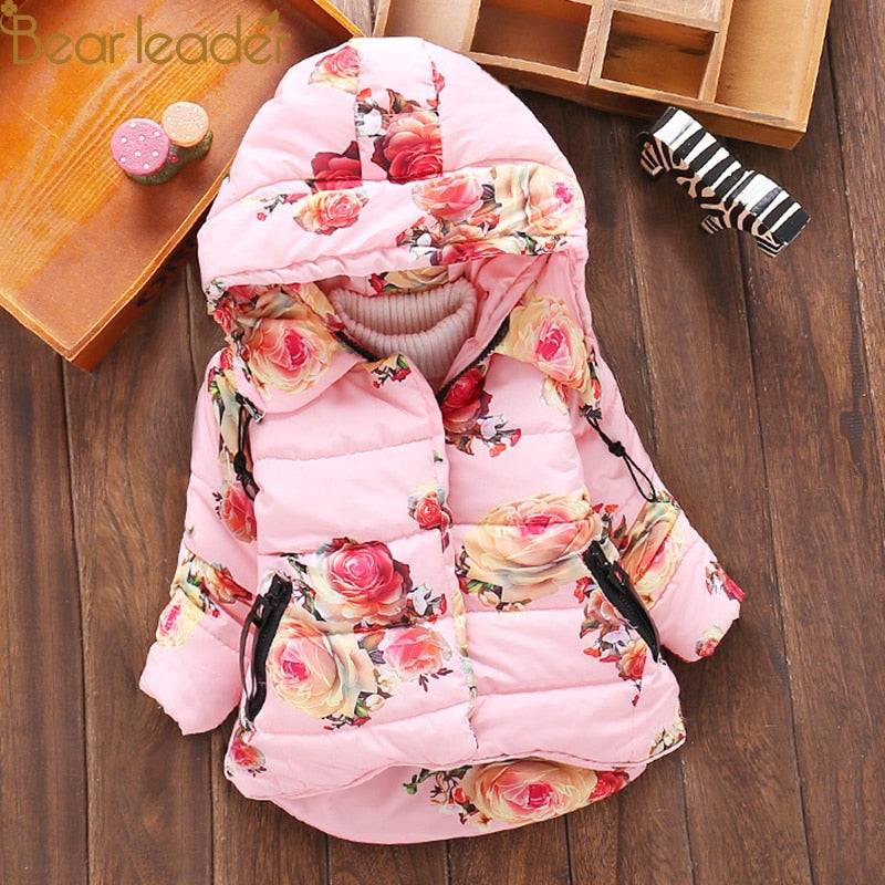 Baby Girls Jacket Winter Jacket For Girls Coat Warm Hooded Outerwear Coat For Girls Parkas Clothes Children Jacket