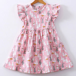 Baby Girls Kids Infant Toddle Floral Rabbit Sleeveless Clothes Princess Dress