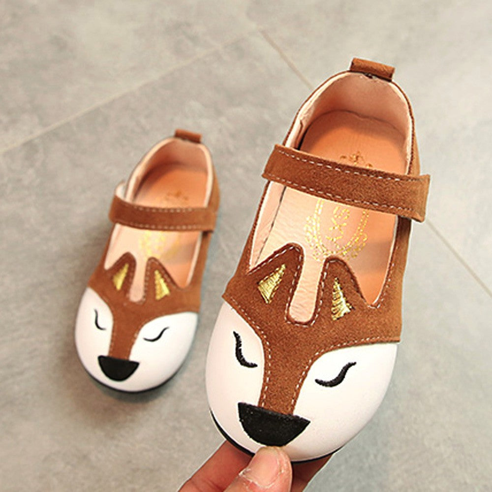 Baby Fashion Toddler Children Fox Ballerina Pricness Casual Flat Shoes