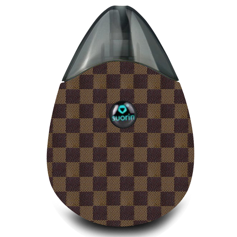 Louis Vuitton Inspired Brown Monogram Suorin Drop Wrap & Skin