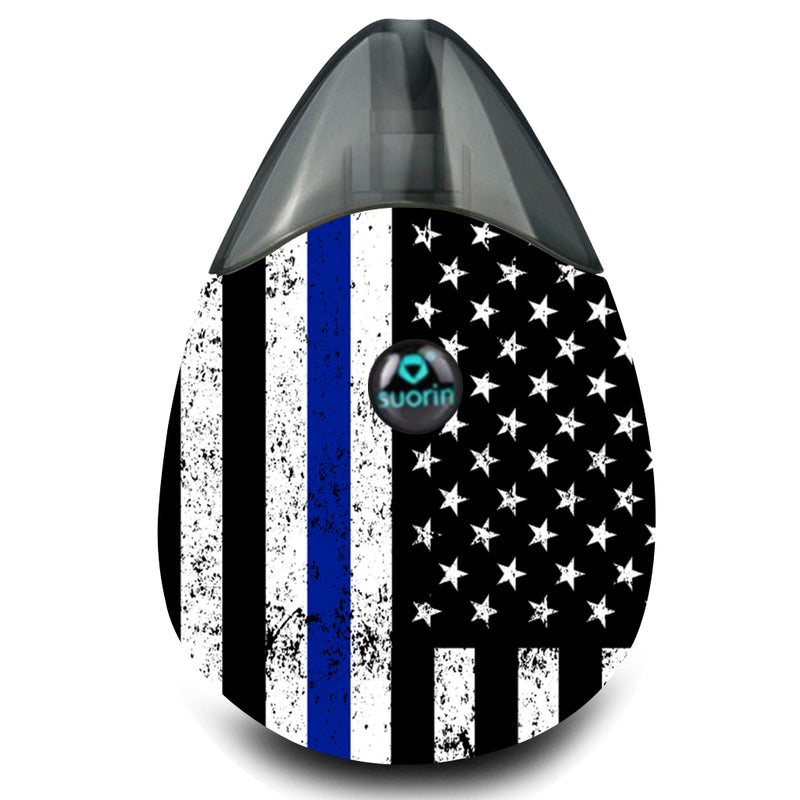 Police Inspired US Flag Suorin Drop Wrap