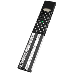 Black & White USA Flag Juul Wrap & Skin