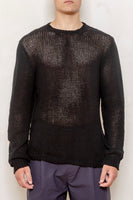 Big loose knit sweater black