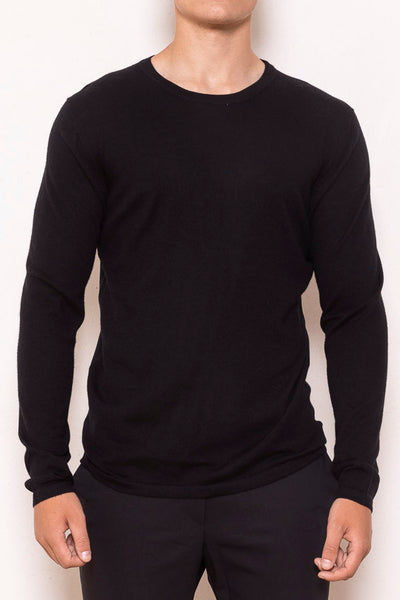 Classic roundneck sweater black