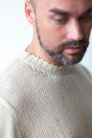 Open knit sweater butter