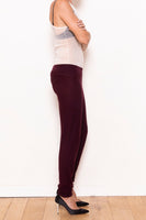 Legging pants aubergine