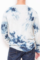 Raglan sweat ice-dye indigo