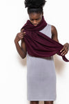 Woven scarf rectangle aubergine