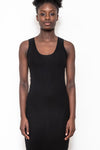 Long tank dress black