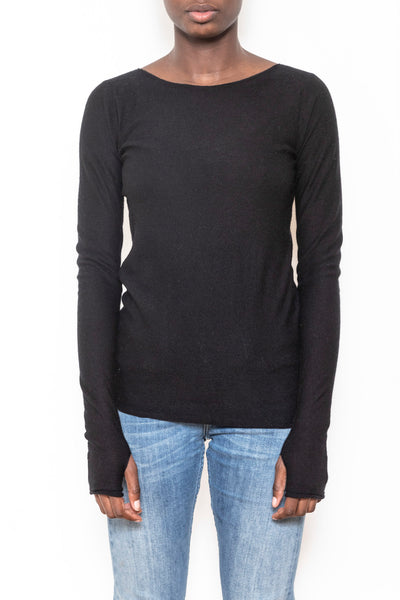 Classic boatneck sweater black