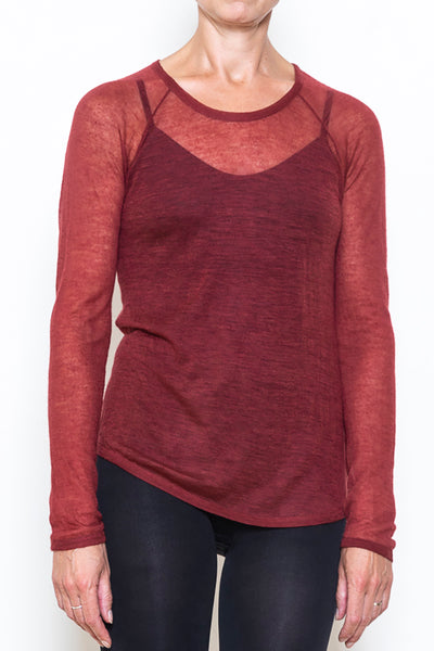 Raglan sweater fine blood
