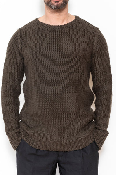 Heavy knit jumper beluga