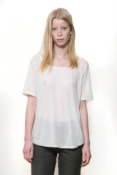 Oversized tee natural