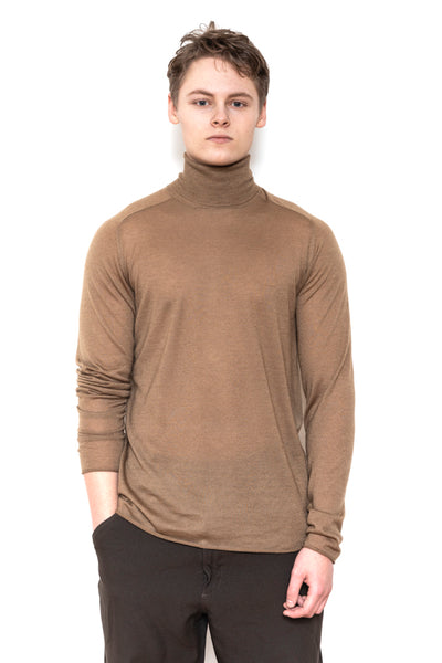 Turtle saddle sleeve light knit walnut