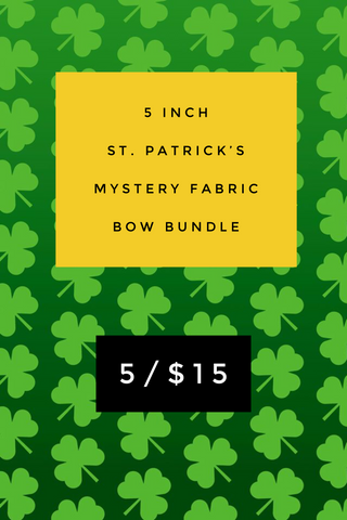 5 inch St. Patrick's Mystery Fabric Bow Bundle