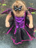 Black Bat Glitter Bow
